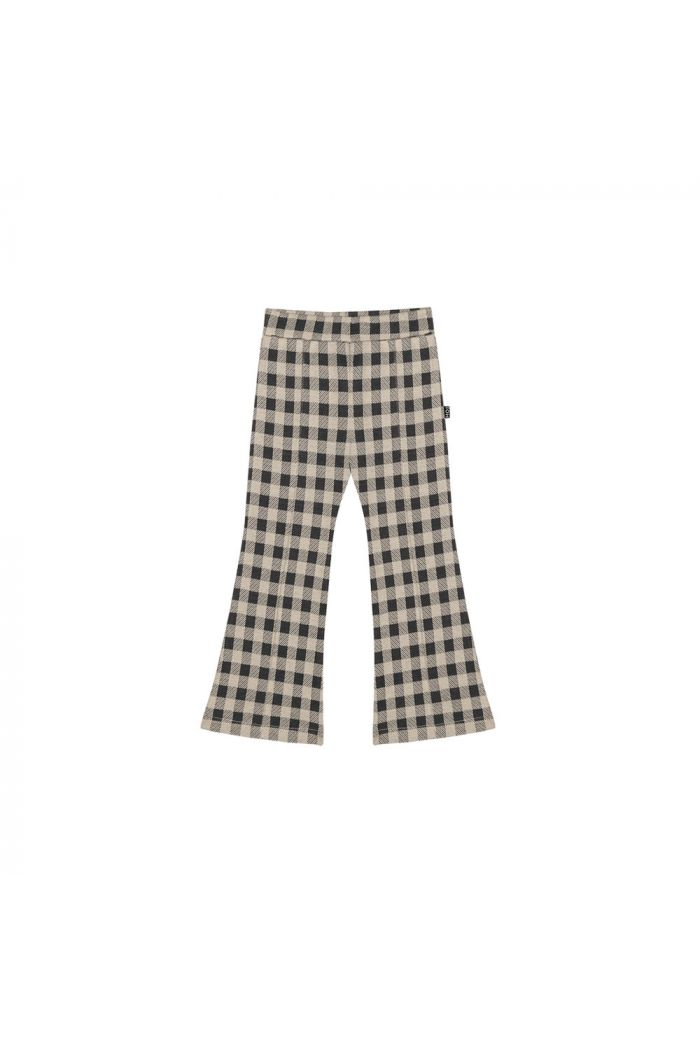 House Of Jamie Flared Pants Charcoal Vichy_1