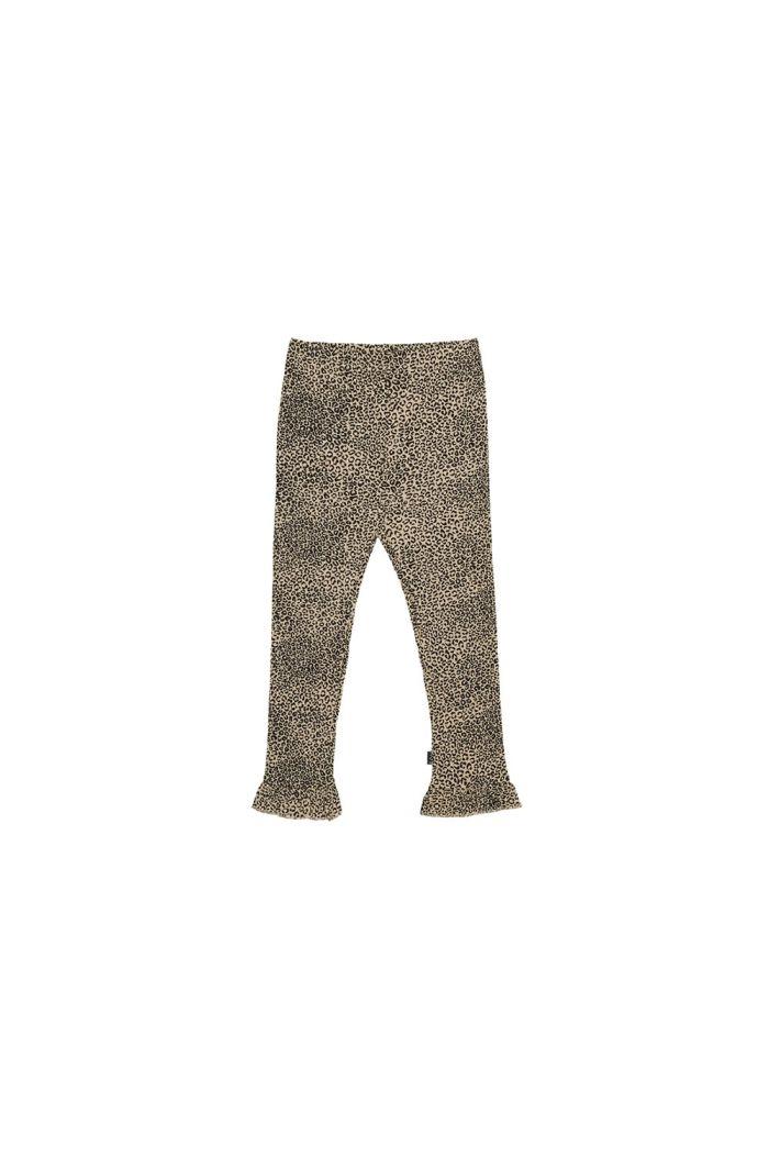 House Of Jamie Rib Frill Leggings Charcoal Little Leopard_1