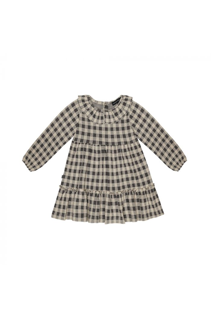 House Of Jamie Collar Layer Dress Charcoal Vichy_1