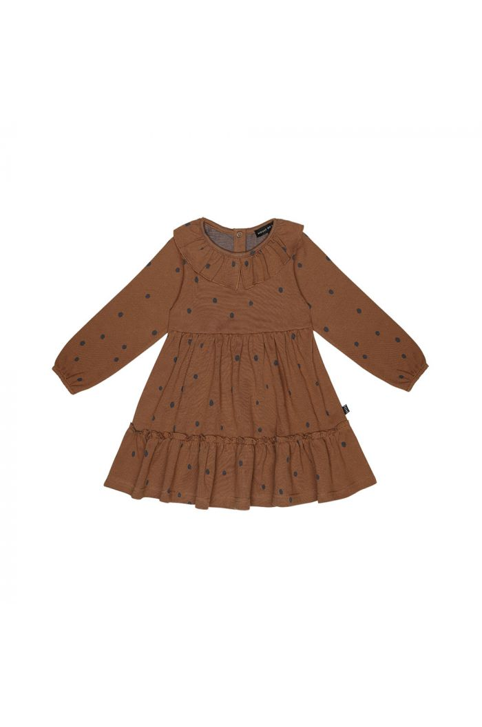 House Of Jamie Collar Layer Dress Ginger Bread Dots_1