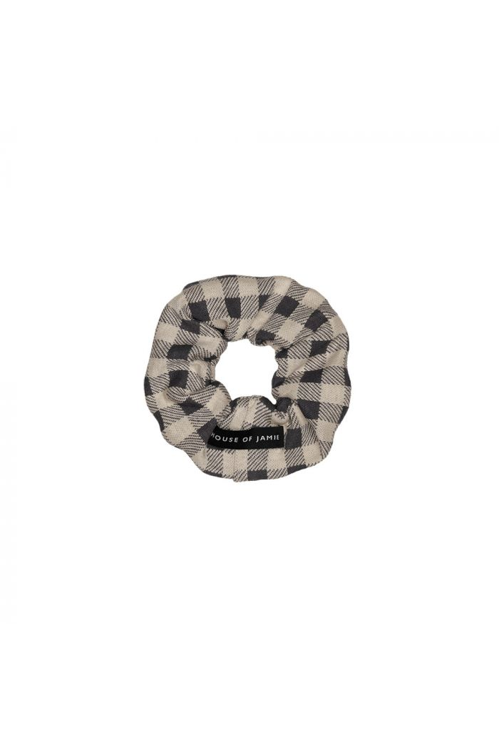 House Of Jamie Scrunchie Charcoal Vichy_1