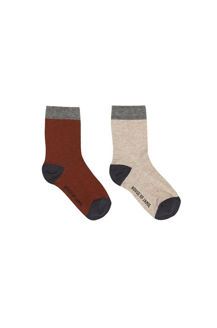 House Of Jamie Ankle Socks Multicolor Block_1