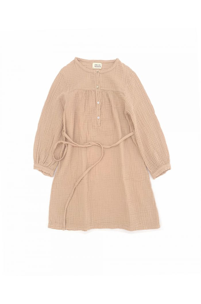 Longlivethequeen Crinkle Dress rose beige_1