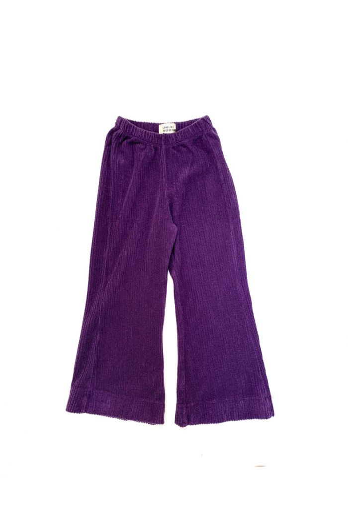 Longlivethequeen Flared Pants purple velvet_1