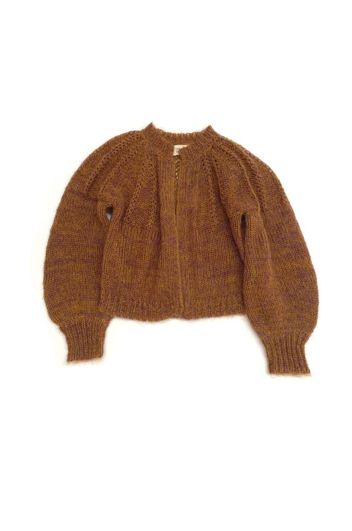 Longlivethequeen Rough Cardigan golden brown_1