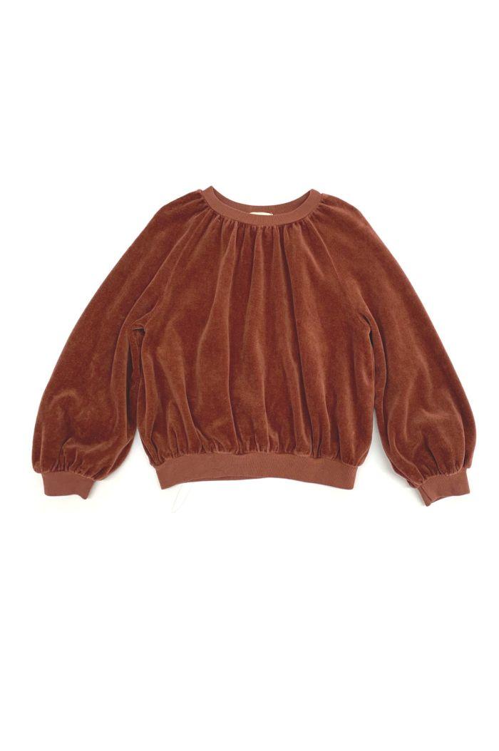 Longlivethequeen Velvet Sweater rootbeer_1