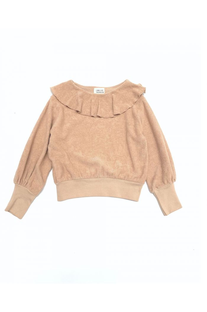 Longlivethequeen Volant Terry Sweater rose beige_1