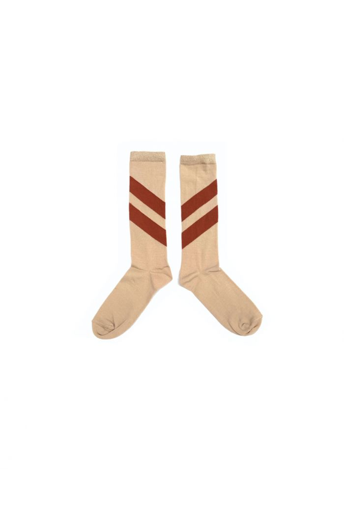 Longlivethequeen Striped Socks natural_1