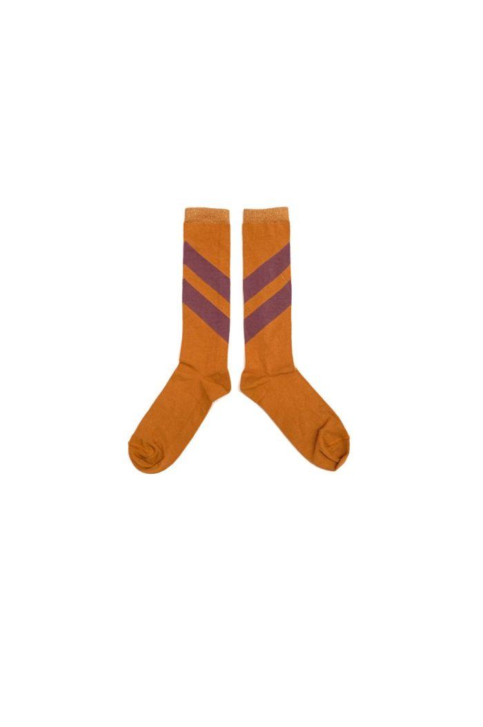 Longlivethequeen Striped Socks inca gold_1