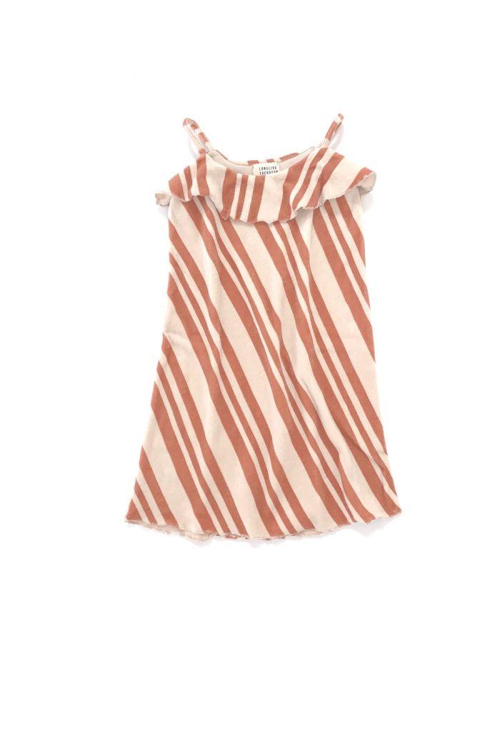 Longlivethequeen Velvet Dress Orange Stripe_1