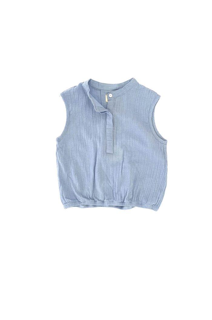 Longlivethequeen Sleeveless Blouse Shirt Blue_1