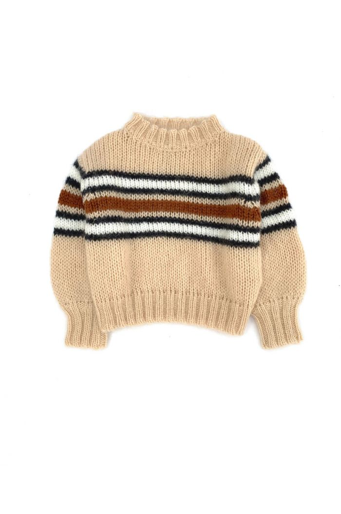 Longlivethequeen Striped Sweater Natural Stripe