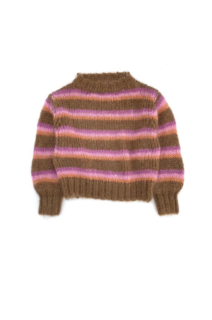 Longlivethequeen Striped Sweater Brown Stripe