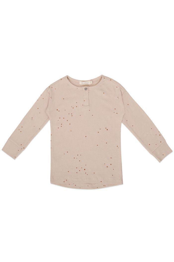 Phil&Phae Rib henley top longsleeve dots Warm Cream_1