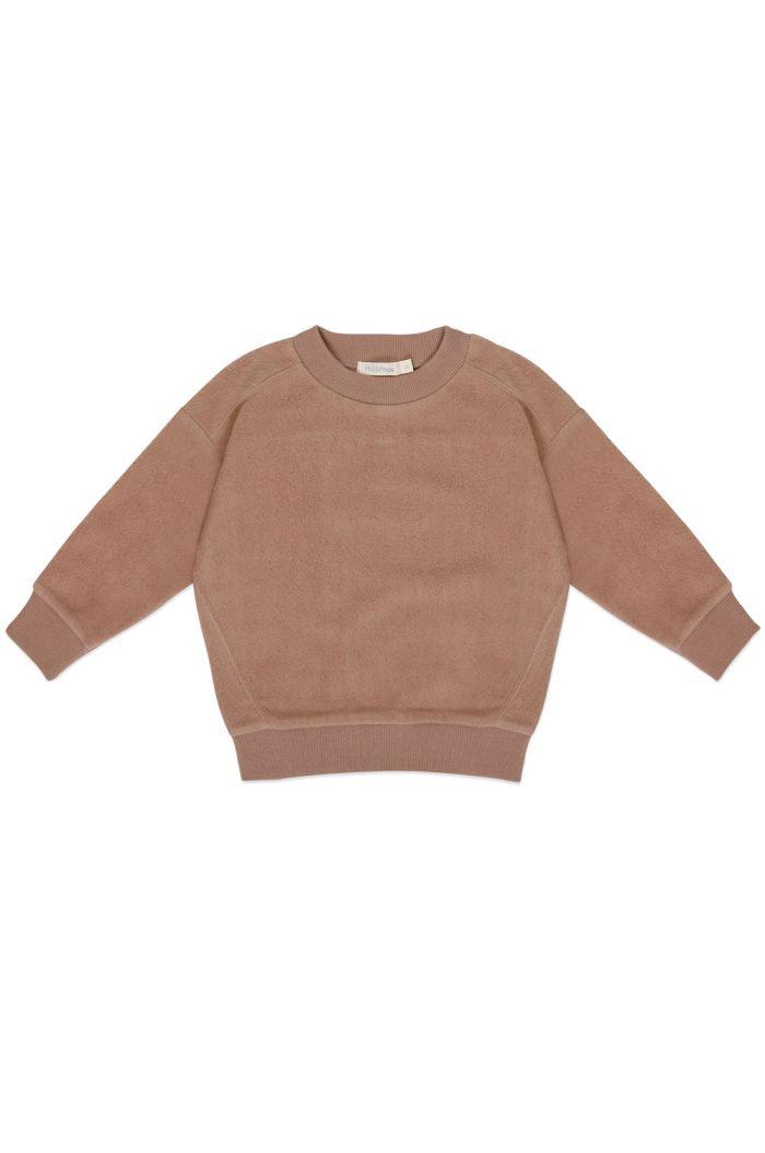 Phil&Phae Oversized teddy sweater Creamy Mocha_1