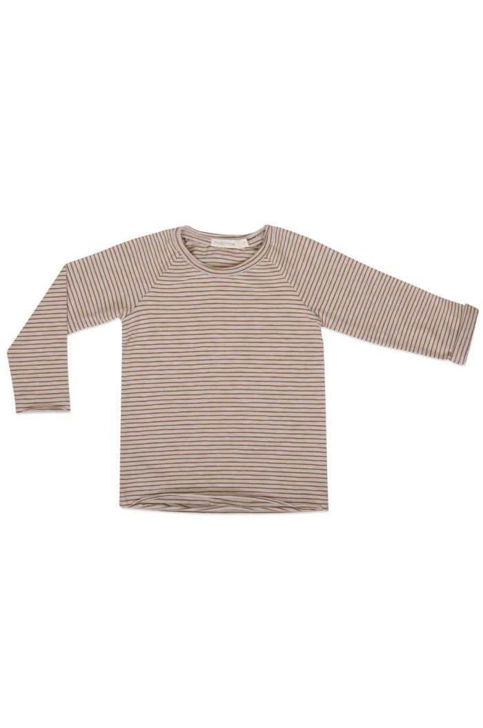 Phil&Phae Raglan tee longsleeve stripes Chestnut_1