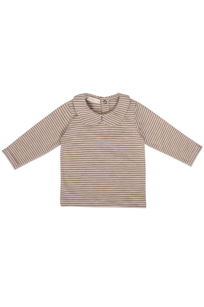 Phil&Phae Baby collar tee longsleeve stripes Chestnut_1
