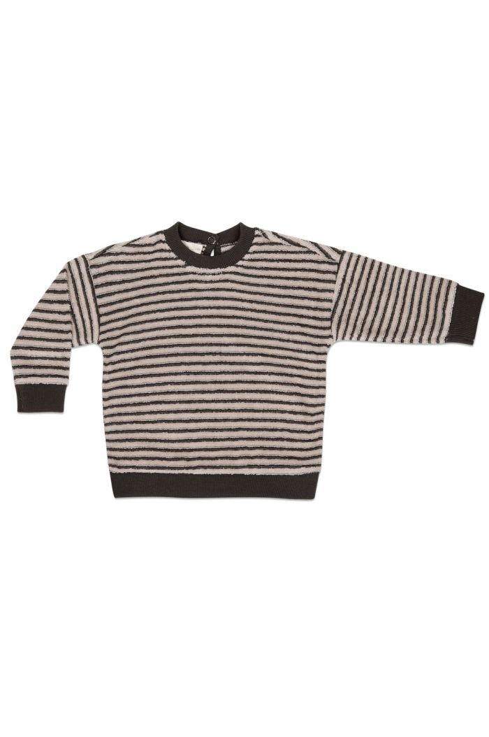 Phil&Phae Baby sweater loopy stripes Graphite
