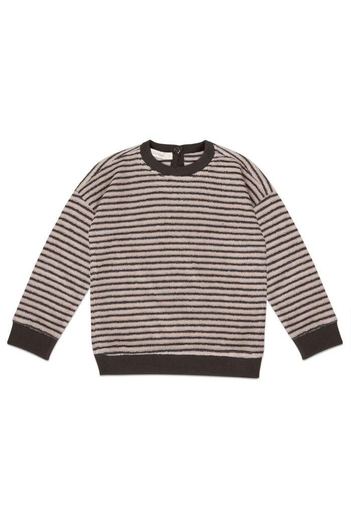 Phil&Phae Sweater loopy stripes Graphite_1