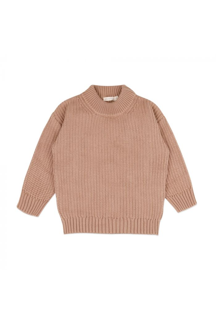 Phil&Phae Chunky knit sweater dusty nude_1