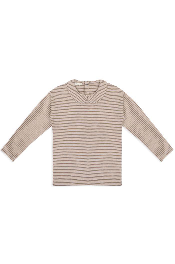Phil&Phae Collar tee longsleeve stripes Chestnut_1