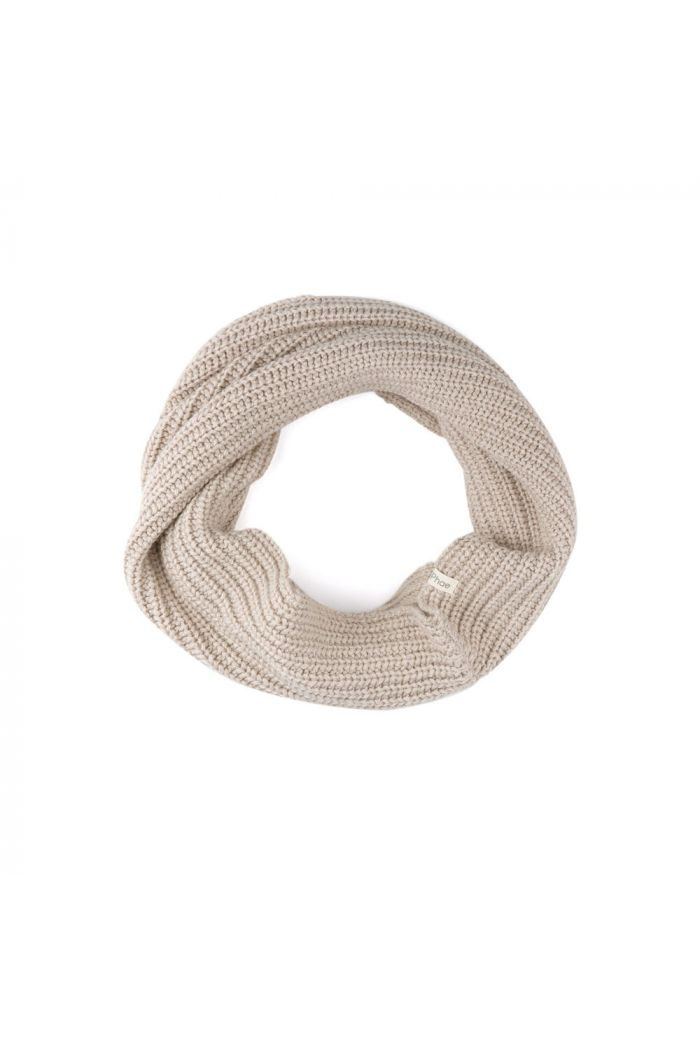 Phil&Phae Cashmere-blend infinity scarf straw_1