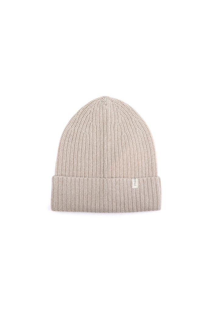 Phil&Phae Cashmere-blend knit beanie straw_1