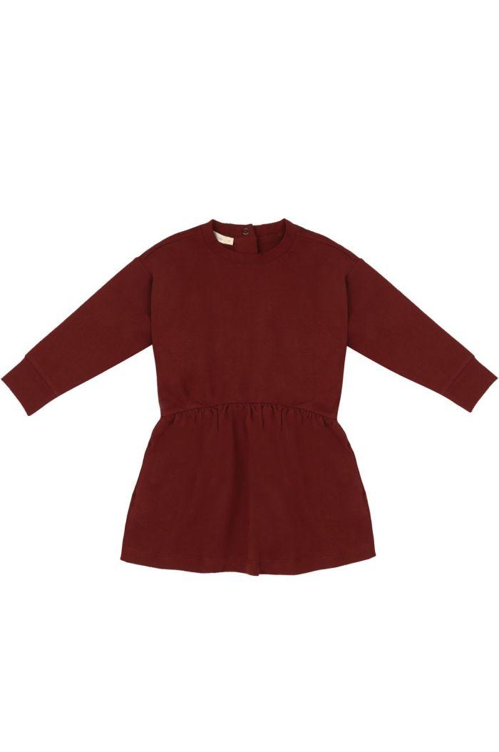 Phil&Phae Oversized dress summer sweat deepest brick_1