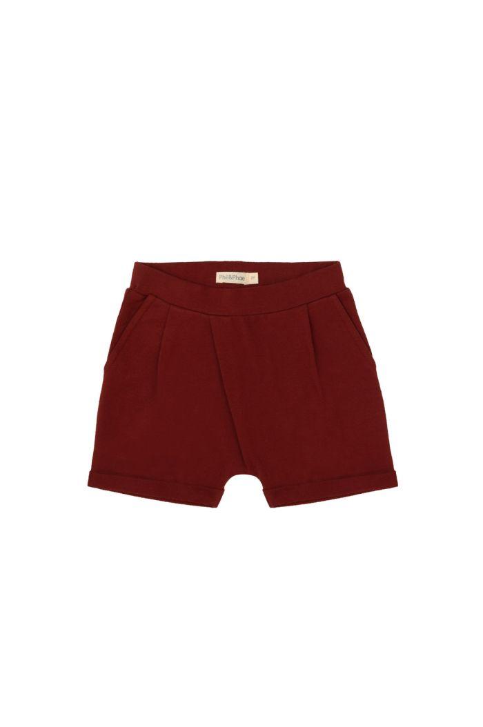 Phil&Phae Fold-over shorts deepest brick_1