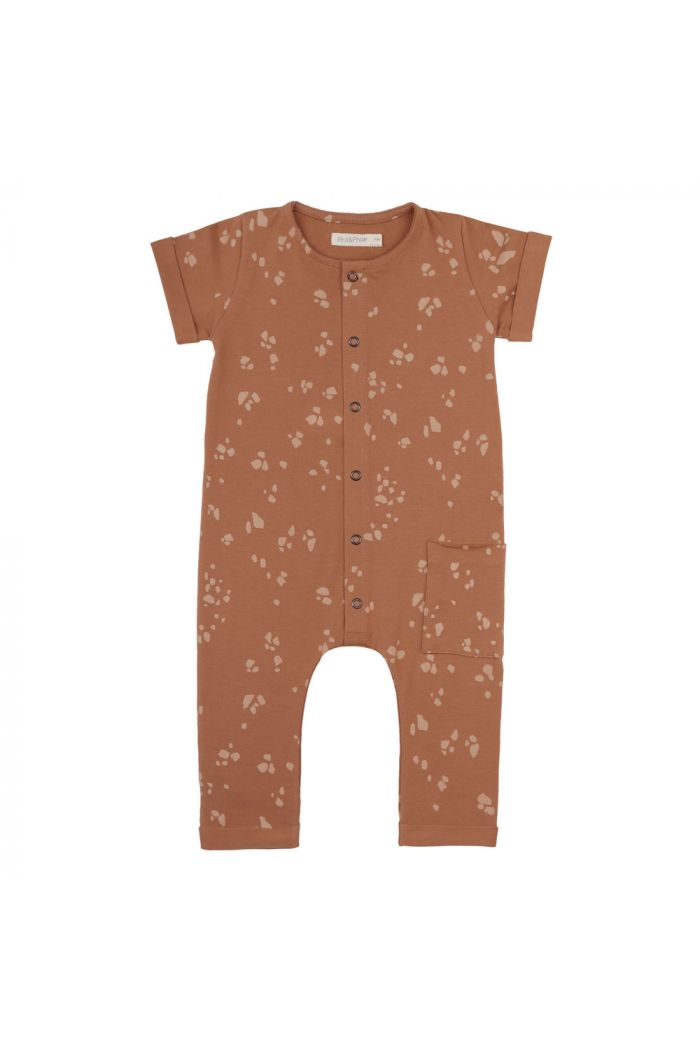 Phil&Phae Pocket jumpsuit shortsleeve stones terra_1