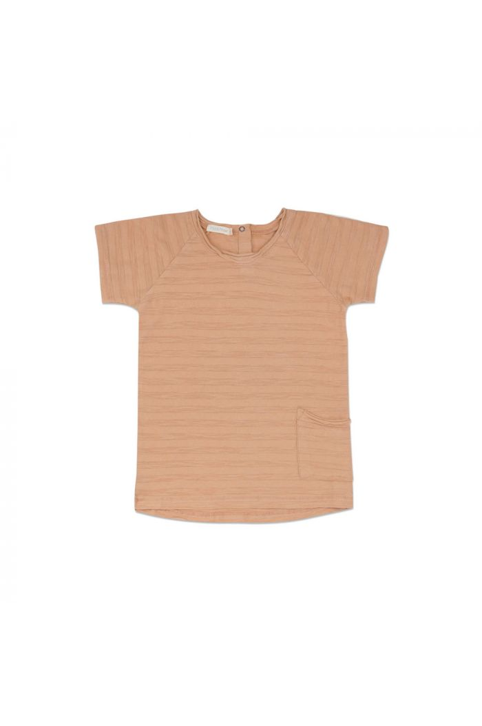 Phil&Phae Raw edged tee shortsleeve tonal stripe peach dust_1