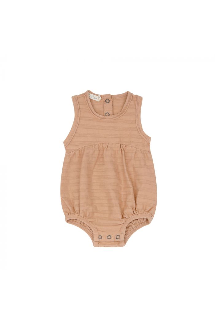Phil&Phae Bubble onesie tonal stripe peach dust_1