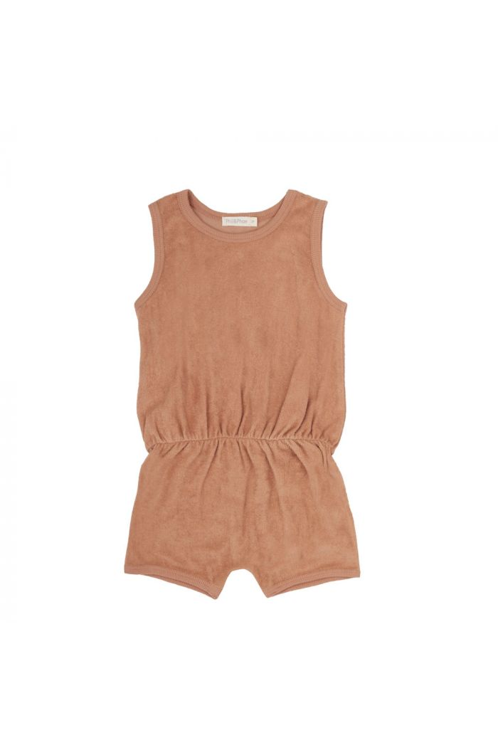 Phil&Phae Frotté playsuit warm biscuit_1