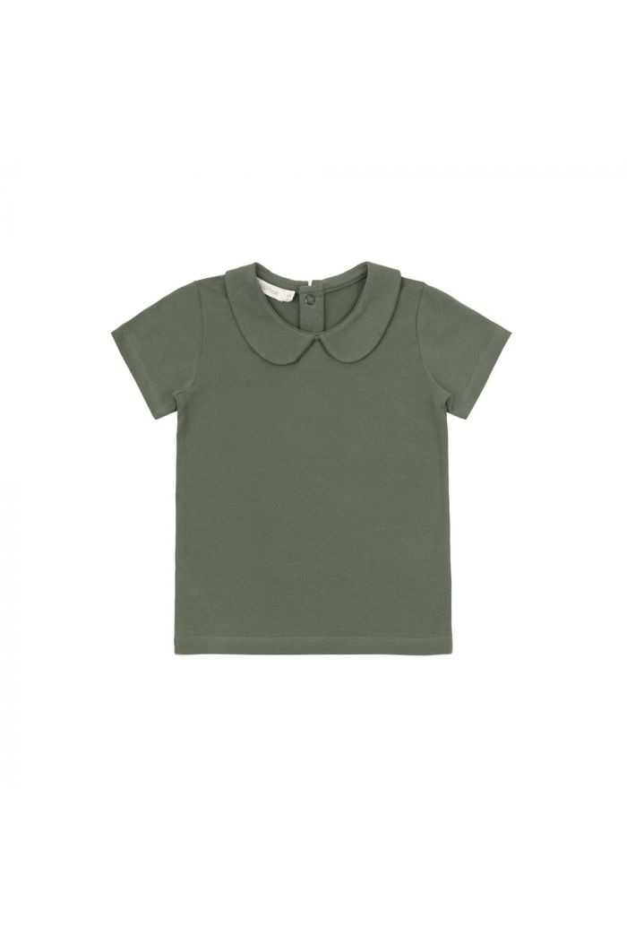 Phil&Phae Collar tee shortsleeve Sage_1