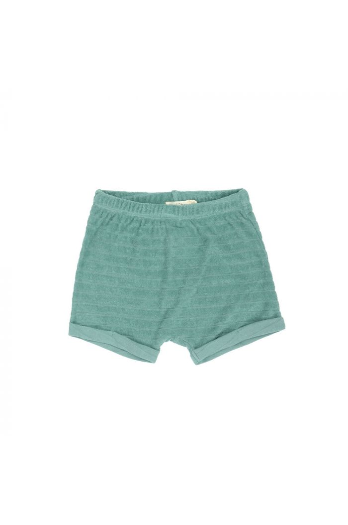 Phil&Phae Striped frotté shorts sea glass