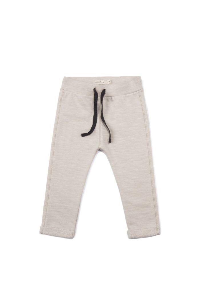Phil&Phae Baby sweat pants slub Oatmeal_1