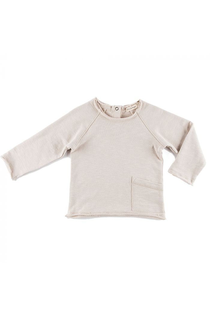 Phil&Phae Raw-edged baby sweater Oatmeal_1