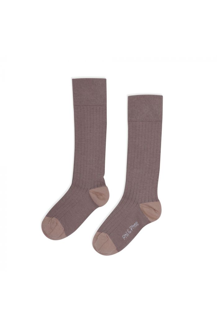 Phil&Phae Ribbed knee socks heather_1
