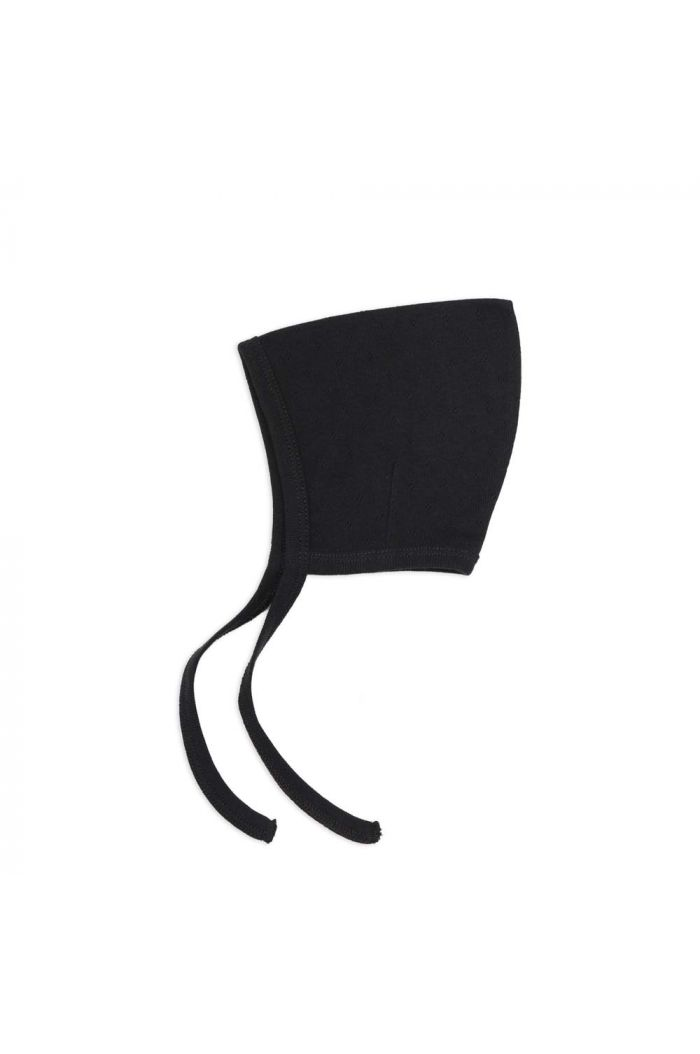 Phil&Phae Pointed bonnet pointelle Charcoal_1