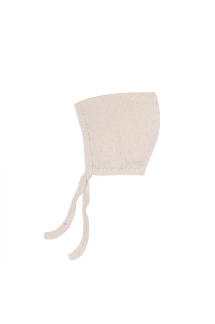 Phil&Phae Pointed bonnet pointelle Oatmeal_1