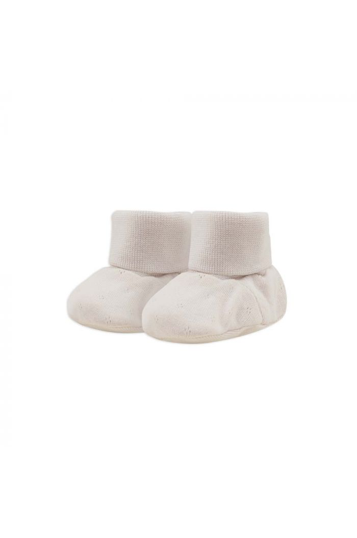 Phil&Phae Baby booties pointelle Oatmeal_1
