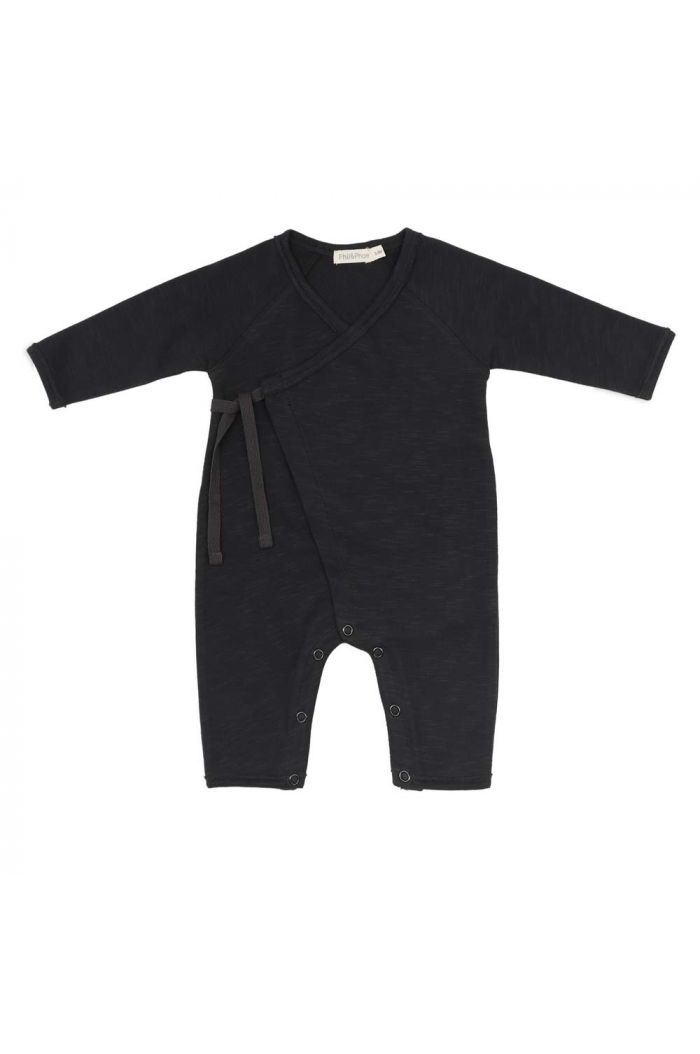 Phil&Phae Cross-over newborn suit Charcoal_1