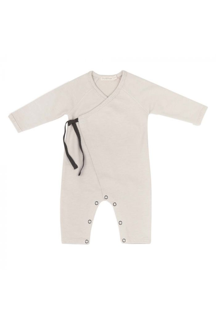 Phil&Phae Cross-over newborn suit Oatmeal_1