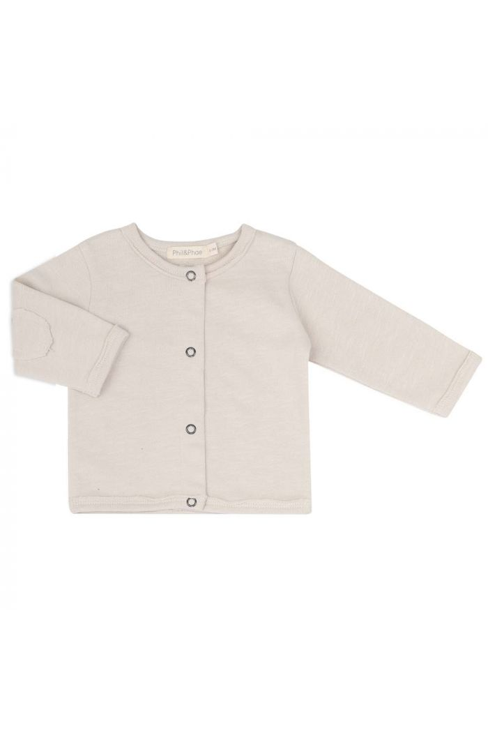 Phil&Phae Raw-edged baby cardigan Oatmeal_1