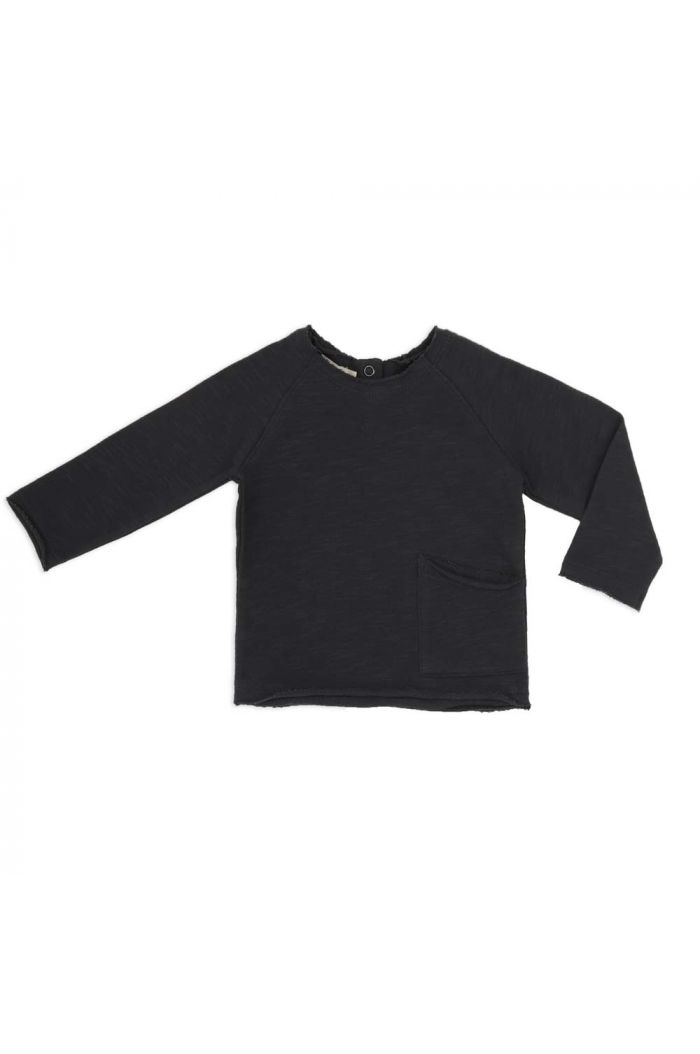 Phil&Phae Raw-edged baby sweater Charcoal_1