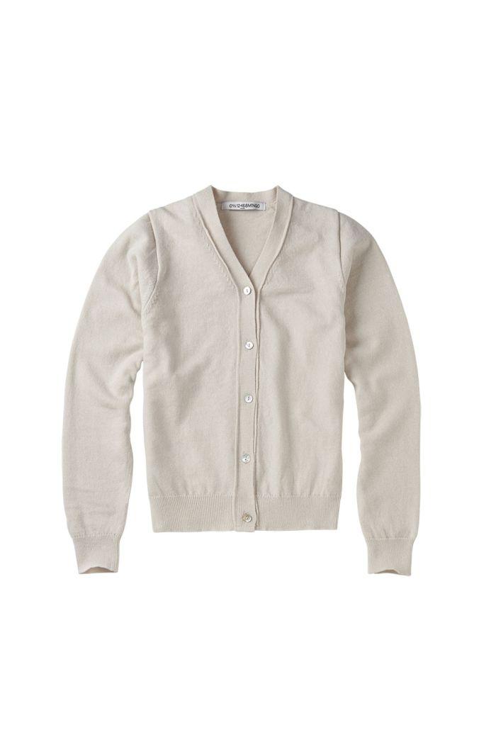 Mingo Cardigan Fine Knit Oatmeal