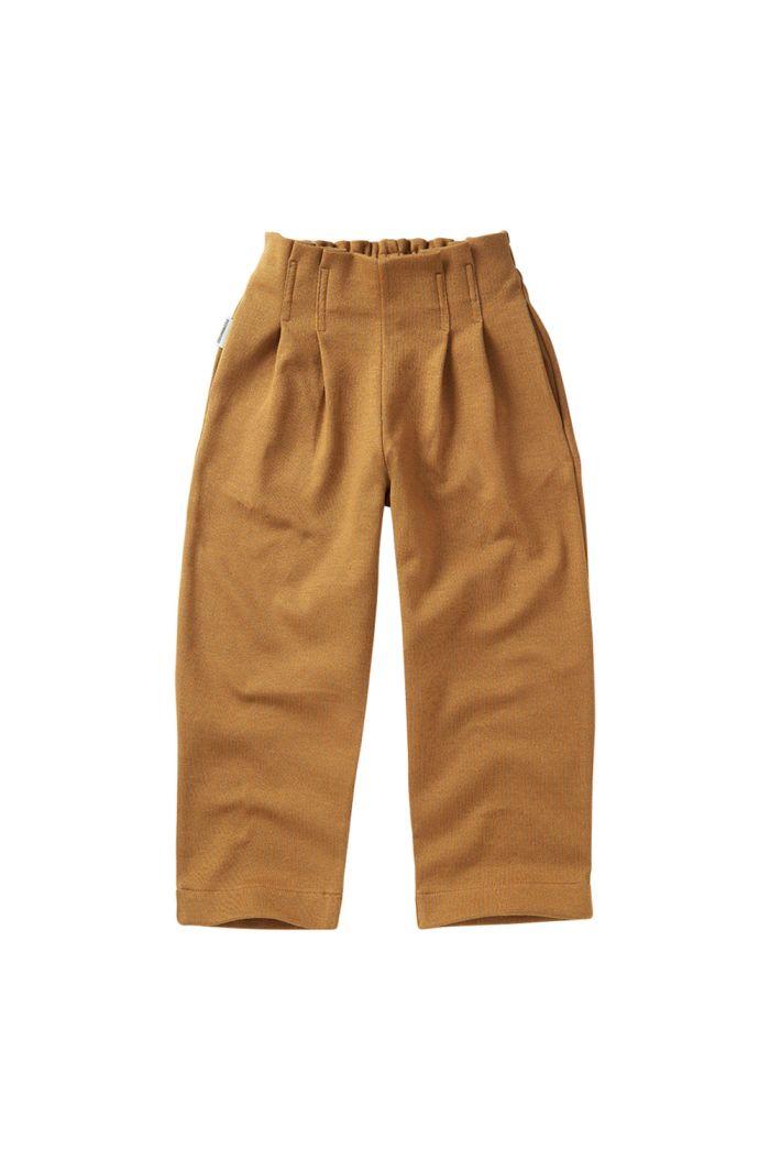 Mingo Jaquard Trouser Ochre_1