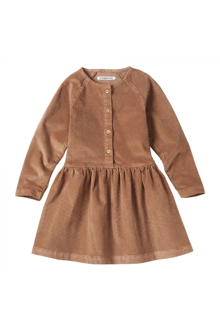 Mingo Corduroy Button Dress Caramel_1