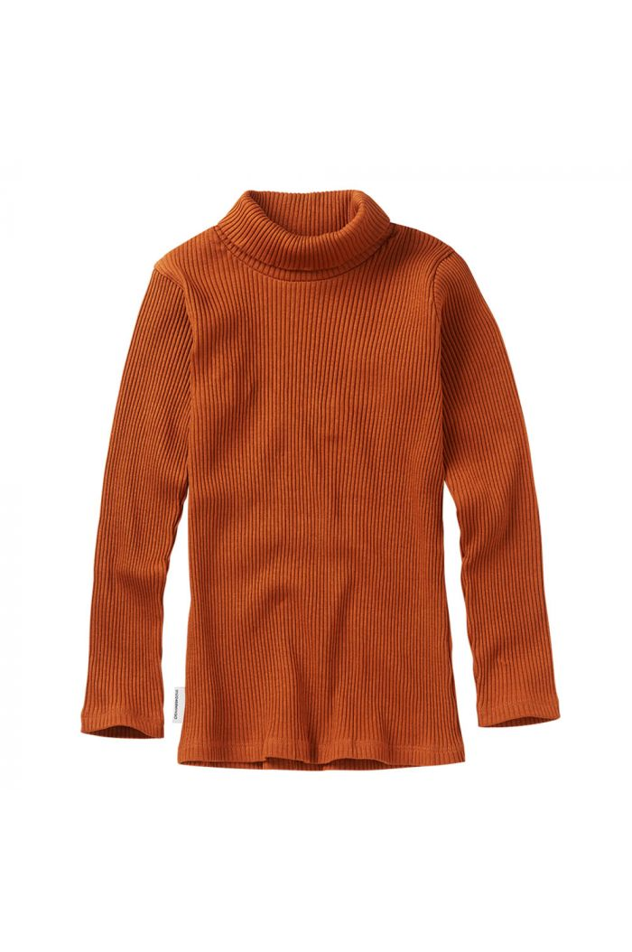 Mingo Rib Turtle neck Dark Ginger_1