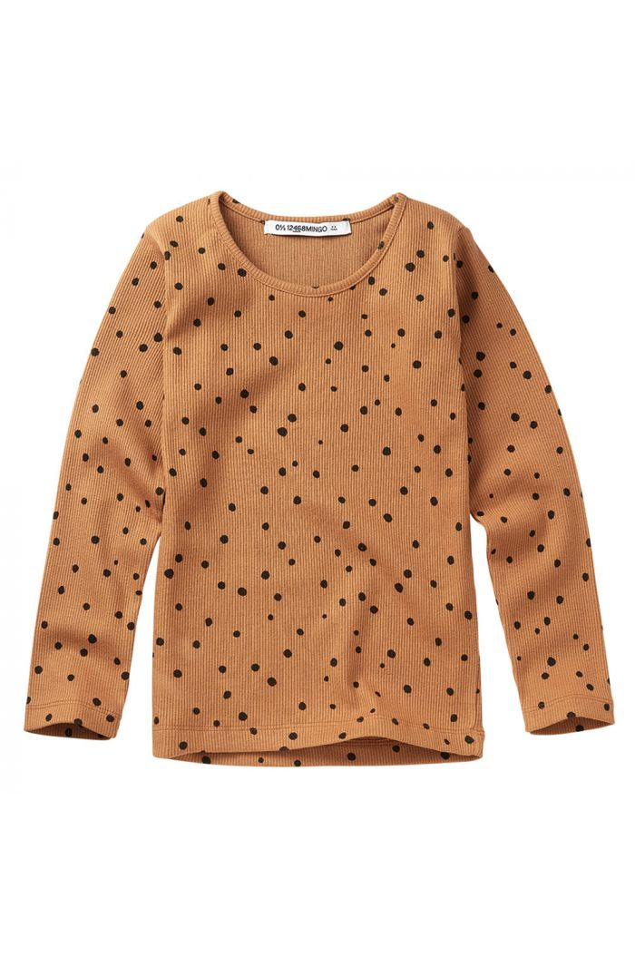 Mingo Rib Top Dots Caramel / Black_1